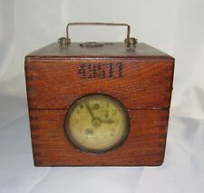 Early 1900s German Plasschaert Pigeon Racing Clock with TWO Sub-dials VG Cond.