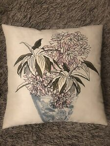 "Laura Ashley Embroidered Down Cushion 18"" x 18"""