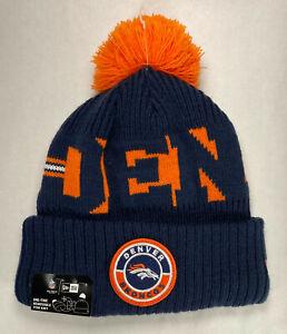 New Era NFL Denver Broncos 2020 On Field Fleece Lined Winter Knit Hat. New