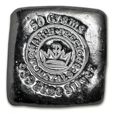 USA Monarch Metals MPM 50 Gramm 999 Silberbarren Square per Hand gegossen Unikat