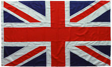 More details for union jack flag mod approved traditional sewn 5x3ft size marine brass eyelets uk