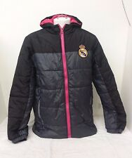 Real Madrid Men's Padded Jacket Black & Gray NWOT Size Large