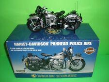 FRANKLIN MINT 1948 HARLEY DAVIDSON PANHEAD POLICE DIECAST MOTORCYCLE B11Z029