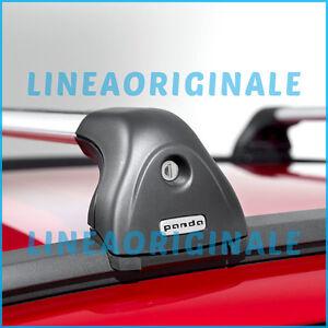 Barre Trasversali su Longitudinali ORIGINALI Fiat Panda portapacchi 50926337