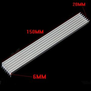 5pcs 150x20x6mm Long Heatsink Aluminum Heat Sink for LED Power Amplifier PCB