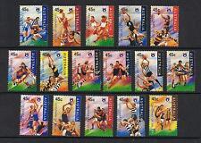 L@@K   STAMPS  AUSTRALIA   1996  FOOTBALL LEAGUE  Set of 16  (MNH )  lot 437xx