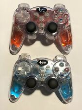 Dream Gear Lava Glow Wireless Controller for PS3 Red and Blue LED Light Up