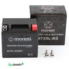 Gel batería de motocicleta mtx5l-bs ytx5l-bs moretti 50412 absolutamente cierre libre de mantenimiento Roller