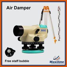 32X Automatic Dumpy Level + Tripod + Staff + Free Staff Bubble Construction Tool