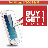 FIT FOR APPLE IPHONE 5 5S SE Tempered Glass screen Protector Covered Film 2