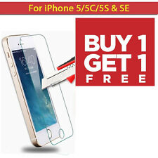 APPLE IPHONE 5 5S SE 100% Genuine Tempered Glass screen Protector Covered Film 2