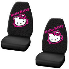 5PC set hello kitty 2 Seat Covers 2 floor mats 1 Speed Steering Cover