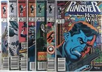 💀 PUNISHER #24 25 26 27 28 29 30 NEWSSTAND VARIANT SET marvel comics AVENGERS