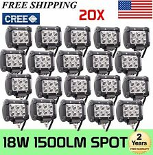 "20X18W 4"" Cree LED Work Light Bar Spot Beam Offroad 4WD UTE SUV Fog Driving Lamp"