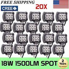 "20X18W 4"" Cree LED Work Light Bar Spot Beam Offroad 4WD UTE SUV Fog Driving"