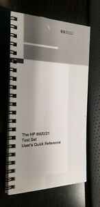 HP/Agilent 8920/8921 Test Set Quick Reference Guide