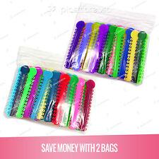 2080 Dental Ligature Rubber Ties Bands Braces Orthodontic Elastic Colored 2 Bags
