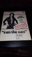 Suzi Quatro Can The Can Rare Original Promo Poster Ad Framed!
