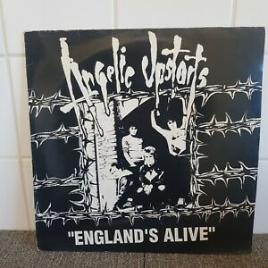 "ANGELIC UPSTARTS 'England' s Alive' 12"" Vinyl Record EP MENSI X1 Punk"