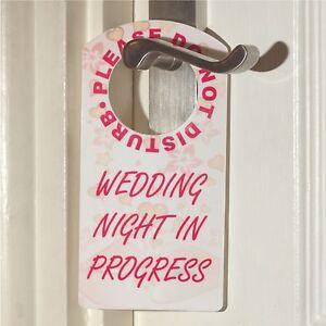 Please Do Not Disturb Wedding Night In Progress Gift Door Hanger Room Sign