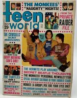 Teen World Feb 1968 Magazine The Turtles Monkees Bee Gees Rascals 20-258CAX