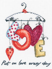 """Counted Cross Stitch Kit RTO - """"Put on love every day"""""""