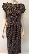 Bnwt Zara Long Wool & Cotton Dress Short Sleeve Black Diamond Check Low Back 14