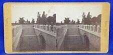 New York City Central Park Marble Bridge Stairs C.L. Dakin Stereoview