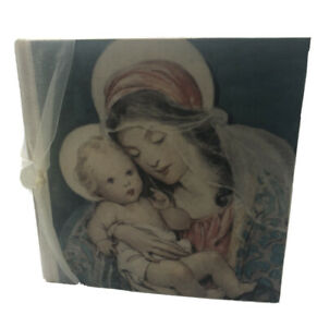 Terra Traditions Photo Album Mother And Child  Madonna Baby Ribbon Unused