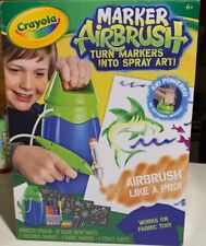 Crayola Marker Airbrush Set w/Stencils & Markers Turn Markers Into Spray Art!