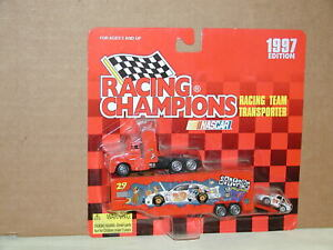 Nascar Cartoon Network #29 Race Car Transporter Racing Champions 1997 White Logo