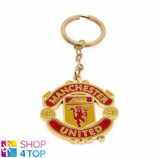 MANCHESTER UNITED OFFICIAL FOOTBALL SOCCER CLUB TEAM KEYRING CHAIN CREST METAL