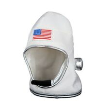 Adults Astronaut White Helmet Spaceman Pilot NASA Sci Fi Fancy Dress Costume Hat
