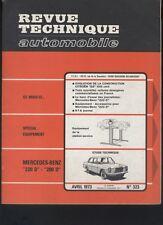 (169B) Revue technique automobile MERCEDES 220D 200D / Citroën GS 1015