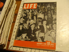 Vintage Life Magazine: NOV 4, 1940: WILLKIE VS. ROOSEVELT; CAMPAIGN POSTERS #2