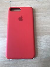 Genuine Apple iPhone 7 PLUS / 8 PLUS Leather Case Red. Small Defect