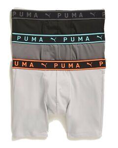 PUMA MEN'S 3 PACK - PHR 5002 AQUA XLARGE - BOXER BRIEF UNDERWEAR ATHLETIC FIT