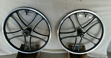 "Pair of 20"" Bicycle Mag Wheels Set SPOKE BLACK FOR GT DYNO HARO any BMX BIKE"