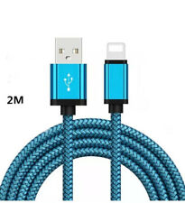 2 Pack Trenzado Cable USB para iluminación iPhone 5/6/7/8/X 11 2A Cargador Rápido de Cable