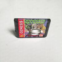 Dragon's Revenge (1993) 16 bit Game Card For Sega Genesis / Mega Drive System