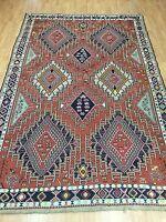 "6'6"" x 9'6"" New Turkish Kilim Oriental Rug - Kazak Design - Hand Made 100% Wool"
