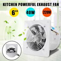 40W 6'' 190mm Ventilation Exhaust Inline Fan Duct Blower Vent Fan Wall Extractor