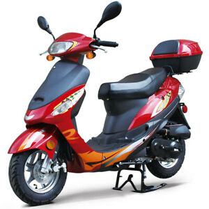 50cc Gas Scooter Moped Express With Auto Transmission Redfox PowerSport