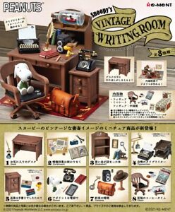 Re-Ment Miniature Peanuts Snoopy Vintage Writing Room Full set 8 pieces Rement