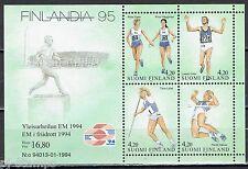 1994 Finland blok 12 EK atletiek  / EC track and field