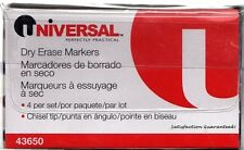 New listing Universal, Dry Erase Markers set, 43650, 4 Markers per Set-blue,green,black& red