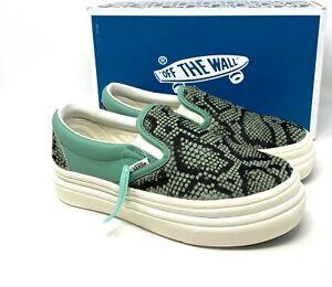 Vans Super Comfy Cush Crème Mint Leather Faux Fur Low Sneaker Womens VN0A4U3I26G