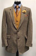 MS1173 Herren Braun Tweed Blazer Jacke Größe 38 UK