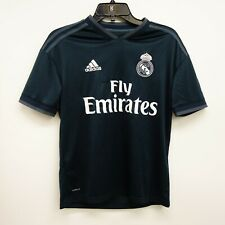 7713c13a0 Adidas Size Youth Large Kids Real Madrid Fly Emirates Navy Jersey Athletic  Shirt