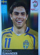 Panini 405 Johan Elmander Schweden UEFA Euro 2008 Austria - Switzerland